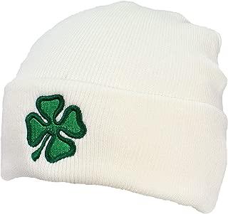 Best Winter Hats Adult Embroidered Green Shamrock/4 Leaf Clover Beanie