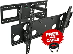 Mount-It! Full Motion TV Wall Mount for 16'', 18'', 24'' Wood Studs, Fits 32