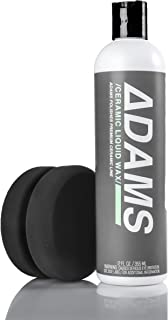 Adam's Ceramic Liquid Wax – Boost the Ceramic Nano Paint Protection of Boat, RV, Truck & Motorcycle - Hydrophobic Top Coat SIO2 Infused Wax Sealant to Extend the Life of Ceramic Coatings (12 oz Combo)