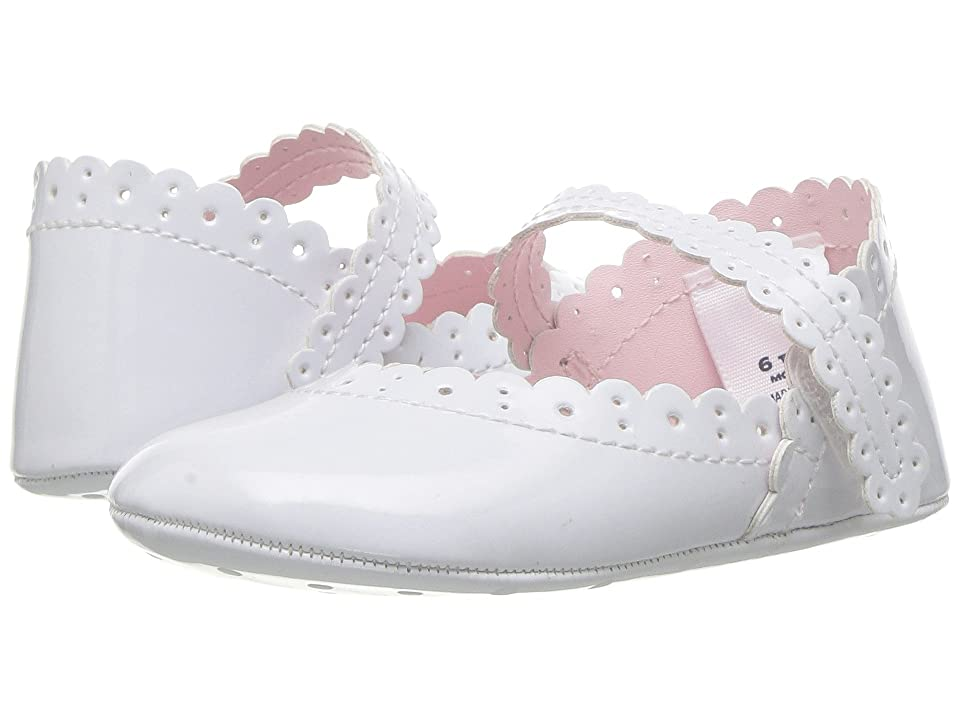 Janie and Jack Eyelet Crib Shoe (Infant) (White) Girls Shoes