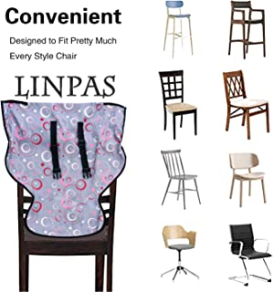 LINPAS Portable Travel Baby High Chair and Feeding Booster Safety Seat Harness for Infants and Toddlers Washable Cloth (Circles)