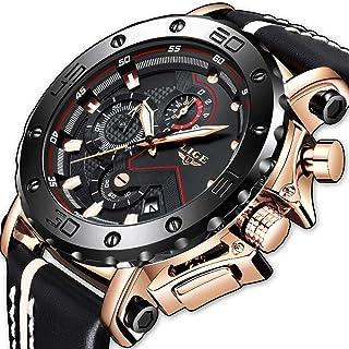 476e15eb1 LIGE Relojes para Hombre Cronógrafo Impermeable Militar Deportivo Moda  Resistente Al Agua Reloj De Cuarzo Analógico