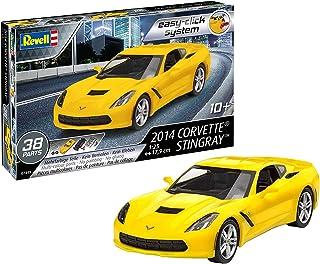Revell 7449 07049 7049 1:25 (Easy-Click) Plastic Model Kit 07449 2014 Corvette Stingray, wielokolorowy, 1/25