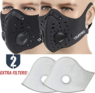 Dust Mask, Moho Upgrade Version Activated Carbon Dustproof Mask Windproof Foggy Haze Anti-Dust Mask Motorcycle Bicycle Cycling Ski Half Face Mask for Burning Man Outdoor Activities
