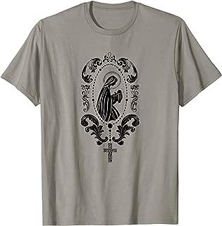 Virgin Mary Shirt Rosary tshirt Mother of Jesus tee