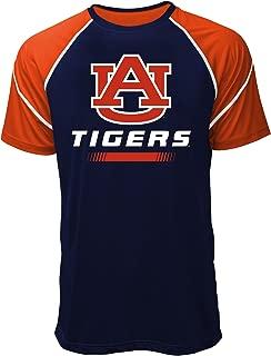 NCAA Auburn Tigers Men's Contrast Stitch Tee, XX-Large, Navy/Orange