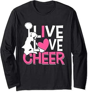 I Love Cheer Cheerleader Heart Cheerleading Cheer Practice Long Sleeve T-Shirt
