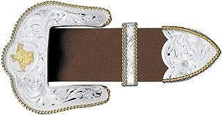 Men's Texas State Engraved 3-Piece Belt Buckle Set - 4550-22Tx