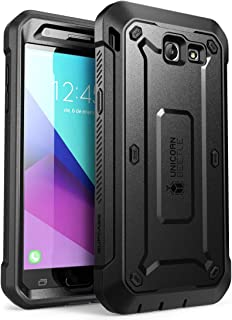 SUPCASE Unicorn Beetle Pro Series Case Designed for Galaxy J3 Emerge, Full-body Rugged Holster Case with Built-in Screen Protector for Samsung Galaxy J3 Emerge (2017 Release) (Black)