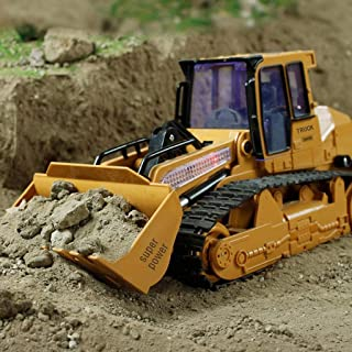 LtrottedJ 1:12 RC Excavator Shovel Remote Control Construction Bulldozer Truck Toy Light (A)