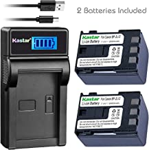 Kastar Battery 2Pack & Slim LCD Charger for Canon BP-2L12 BP-2L14 BP-2L15 BP-2L24H BP-2L5 NB-2L12 NB-2L14 NB-2L and DC310 DC330 Elura 60 Vixia HV20 Vixia HV30 ZR100 ZR200 ZR300 ZR500 ZR600 ZR800