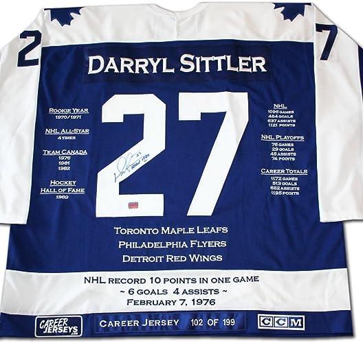 Generic Darryl Sittler voiturerière Jersey autographe Ltd Ed 199 Tornto Maple Leafs