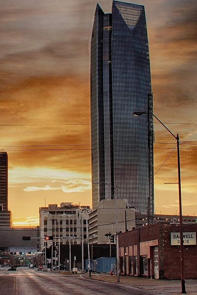 層成長場所Oklahoma City at Dusk: 150 page lined 6 x 9 notebook/diary/journal