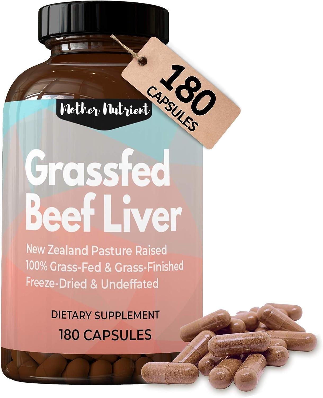 Beef Liver Capsules 100% Grassfed Dessicated Zealand Liver. New Max Sale item 42% OFF