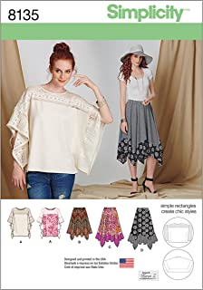Simplicity 8135 Easy to Sew Women's Tunic and Skirt Sewing Patterns, Sizes XS-XL