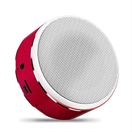 SHA Altoparlante Bluetooth Musica Stereo Mini Altoparlante Bluetooth Altoparlante Hi-Fi Wireless Subwoofer Altoparlante Supporto Audio Tf Aux USB 85Mm * 37Mm Rosso - Trova i prezzi più bassi