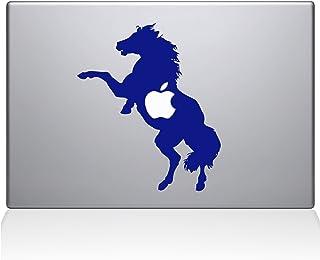 "The Decal Guru 0158-MAC-15P-DB Bucking Horse Vinyl Sticker, 15"" Macbook Pro (2015 & older), Blue"