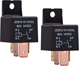 Ehdis [2 Pack 4-Pin JD2912-1H-12VDC 80A 14VDC On/Off Normally Open Car Truck Boat SPST Relays High Power