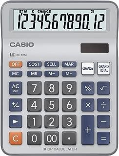 Casio DC-12M Practical Desk Top/Compact Desk Type Calculator, 0.2 kilograms