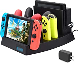 Upgrade Charging Dock for Nintendo Switch, FYOUNG Charger Stand for Nintendo Switch Console,Switch Pro controllers and Joy-Cons with 1 USB Type-C Cable, 1 DC Cable and AC Adpater