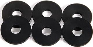 Stay Put Strap Locks - Premium Silicone Rubber Guitar Strap Blocks (6, Black)