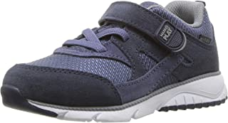 Stride Rite Baby Ace Boy's and Girl's Premium Leather Sneaker, Navy, 4.5 XW US Toddler