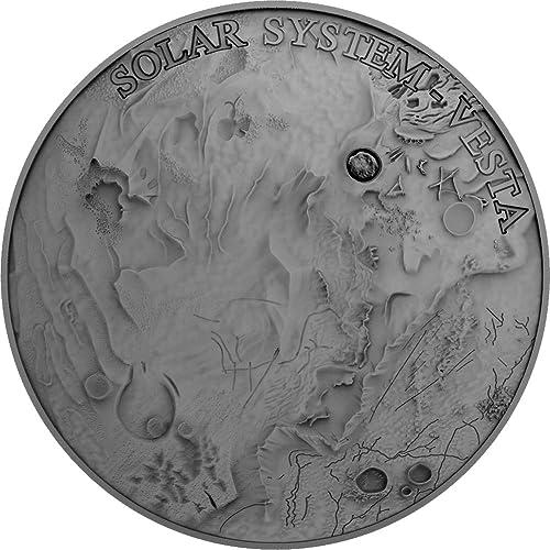 Venta al por mayor barato y de alta calidad. Power Coin Vesta Meteorito Solar Solar Solar System 1 Oz Moneda plata 1  Niue 2018  tomamos a los clientes como nuestro dios