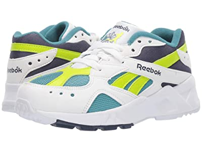 Reebok Kids Aztrek (Big Kid) (White/Navy/Mist/Lime) Boys Shoes