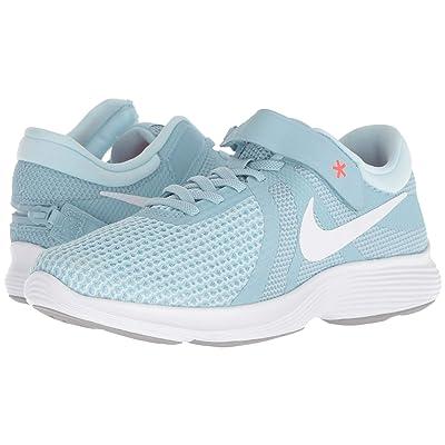 Nike Revolution 4 FlyEase (Ocean Bliss/White/Glacier Blue/Solar Red) Women