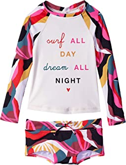 Dream Time Long Sleeve Rashguard Set (Little Kids/Big Kids)