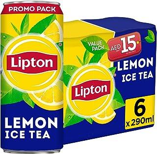 Lipton Non Carbonated Lemon Ice Tea Can, 6 x 290 ml