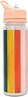 ban.do Women's Water Bottle with Glitter & Stripes