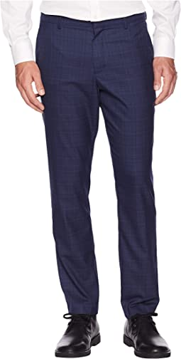Slim Fit Washable Plaid Tech Suit Pants