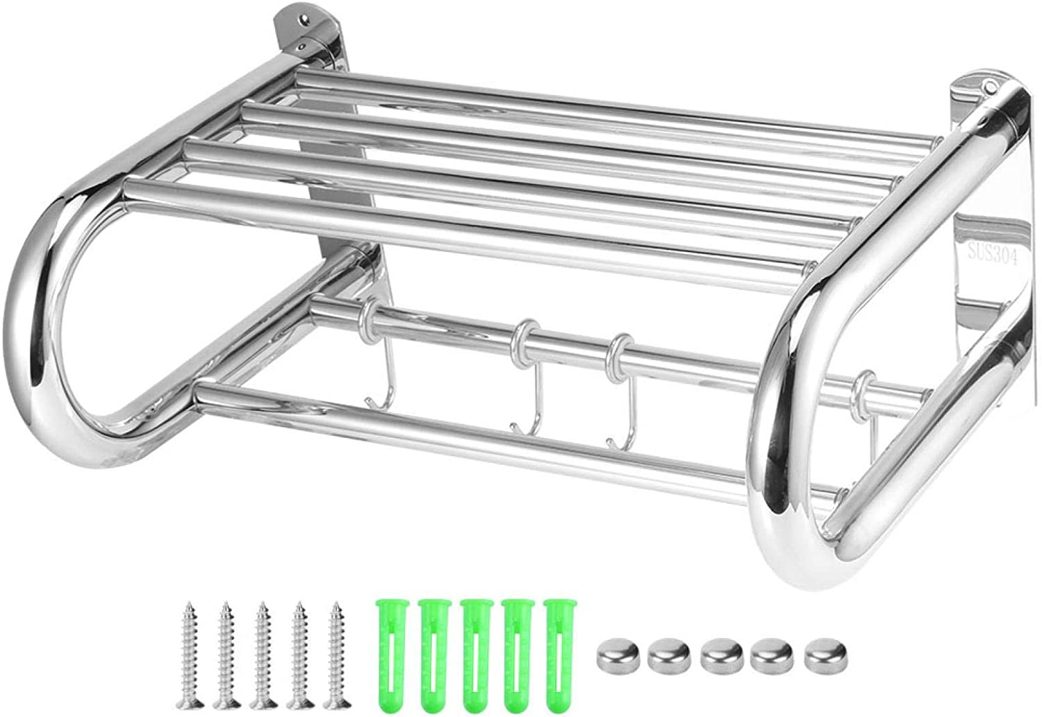 Direct store Fashionable Wall Mounted Stainless Steel Bathroom Shelf Bar a Towel Rod Rack