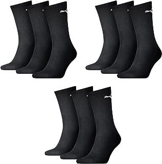Puma, 9 pair Puma Sport Socks Tennis Socks Gr. 35 - 49 Unisex, Farben:200 - black, Socken & Strümpfe:47-49