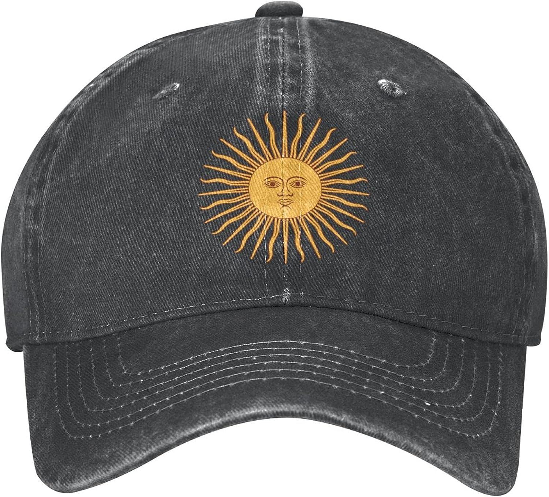 Argentina Sun Baseball Cap Adjustable Dad Hat Denim Cap for Men and Women