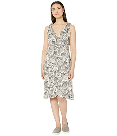 Royal Robbins Noe Cross-Over Dress (Light Taupe Print) Women