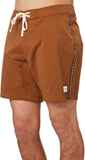Rhythm Men's Classic Mens Boardshort Cotton Fitted Brown