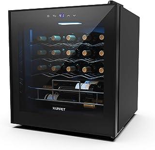 KUPPET 19 Bottles Wine Cooler, KUPPET Compressor Freestanding Chiller-Counter Top Red/White Wine, Beer and Champagne Wine ...