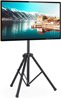 Rfiver Portable Tripod TV Display Floor Stand with Swivel & Tilt Mount for 32