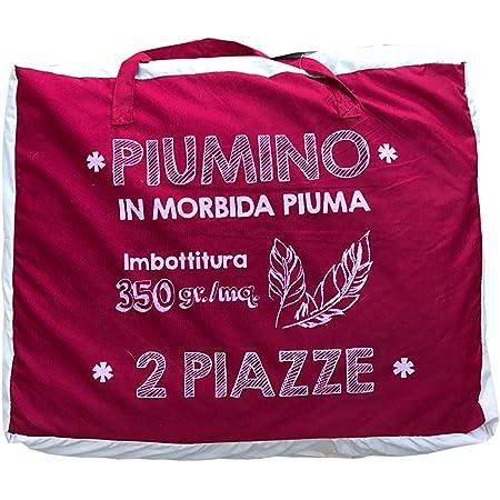 Matrimoniale Panna-Bordeaux Il Gruppone Piumino Primavera Estate Double Face in Piuma DOca 90-10 in 3 Misure e 4 Colori