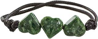 "NOVICA Jade Heart Shaped Bracelet, 6"" `Maya Love in Green`"