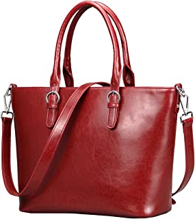 Heshe Womens Handbag Leather Shoulder Cross Body Tote Bags Satchel Handbags and Purses for ladies