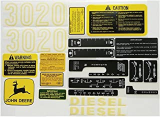DK3020 New Tractor Complete Decal Kit for John Deere 3020