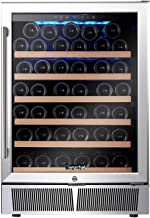 Wine Cooler Built-in or Freestanding, AMZCHEF Compressor Wine Refrigerator 52 Bottle Single Zone with Touch Control