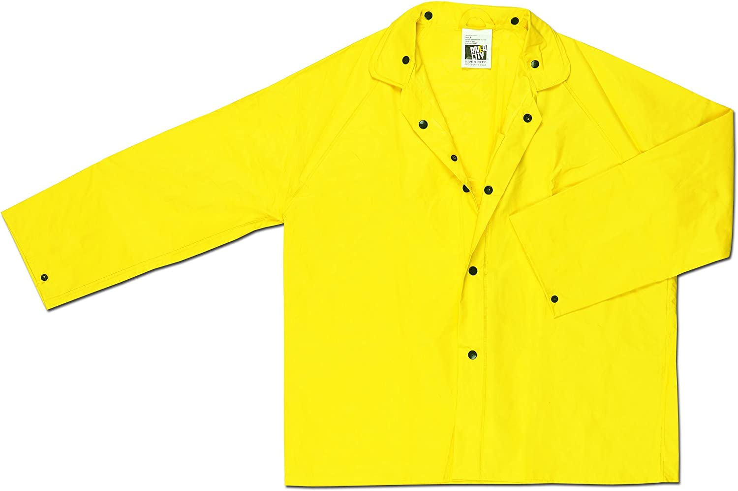 MCR Safety 300JX2 Wizard PVC/Nylon Flame Resistant Jacket with Detachable Hood, Yellow, 2X-Large