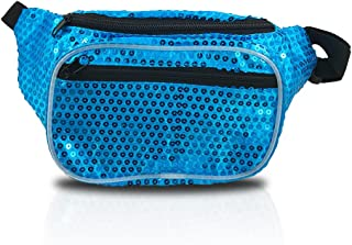 Blue Sequin Sparkly Shiny Fanny Pack (Sequin Blue)