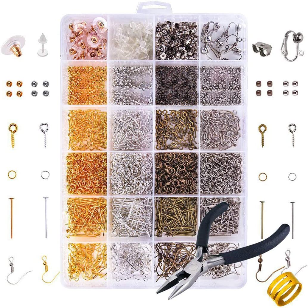 FunPa Large-scale sale National uniform free shipping Earring Hook Accessories DIY Parts 24 Metal H Grid