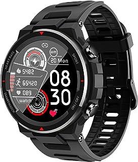 Reloj Inteligente Bluetooth Toque.Dinámica.Frecuencia Cardíaca Monitoreo.Reloj,Smart Watch Multifuncional IP67 Es Resistente Al Agua Tanto Los Hombres como Las Mujeres Son Adecuado-Negro