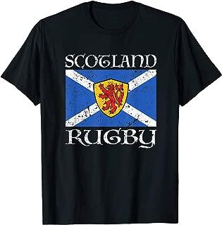 Scotland Rugby T Shirt Scottish Flag Vintage Saltire Gift